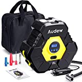 Audew Portable Air Compressor Digital Car Tyre Pump 12V 150PSI Car Tyre Inflator LCD Display Screen, 38L/Min Auto Air Pump for Bicycle, Motor, Balls & Other Inflatables