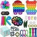 Fidget Toys Pack, Fidget Toy Sets Fidget Pack Barato, Simple Dimple Fidget, Push Bubble Fidget Juguete Sensorial Para Niños (I-2) de Nokiwiqis