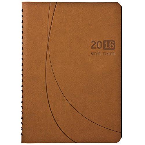 DayTimer Essentials Monthly Pocket-Size Business Planner 2016, Wire Bound, 5.5 x 8.5 Inches Page Size, Brown (452121601)