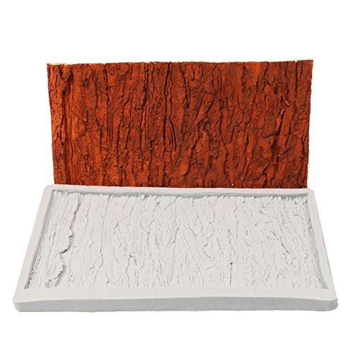 lzndeal Moule 3D en forme d'écorce - En silicone - Pour fondant ou fondant