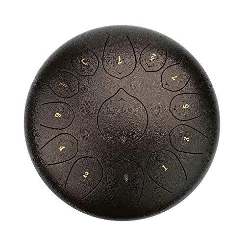 Tambor de acero de 12 pulgadas, herramienta de percusión con Drum Mallets Carry Bag Note Sticks para meditación Yoga Sound