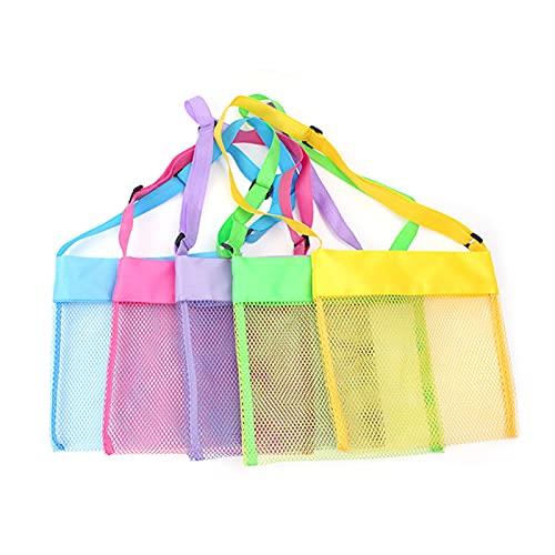 5 Stück Netz-Strandspielzeugtasche...