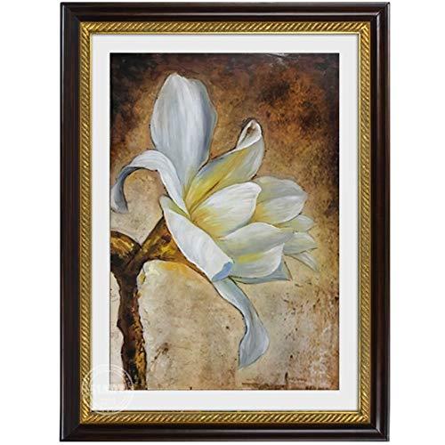SUMIANYH 100% met de hand beschilderde olieverfschilderijen eenvoudige Amerikaanse veranda olieverfschilderij met de hand beschilderd open haard deur decoratie schilderij bloem schilderij dageraad bloem 70×90cm