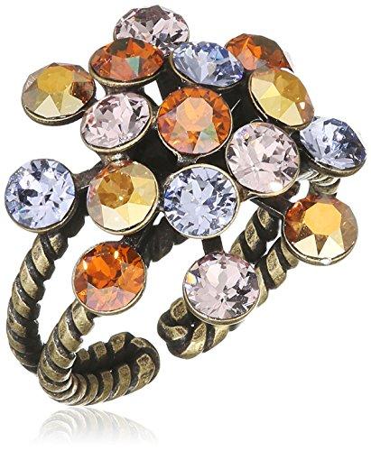 Konplott Damen-Ring Magic Fireball Messing Glas Mehrfarbig Ringgröße verstellbar - 5450543301648