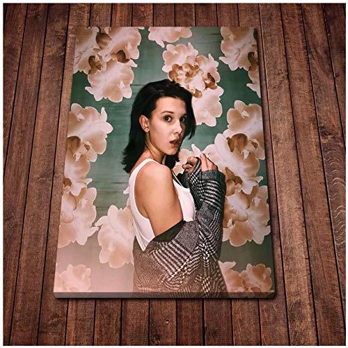 Wsxyhn Millie Barbie Brown Poster Canvas Art Posters and Prints Cocina Tema Pinturas En Lienzo En La Pared Imágenes Artísticas Decoración-50X70Cm Sin Marco
