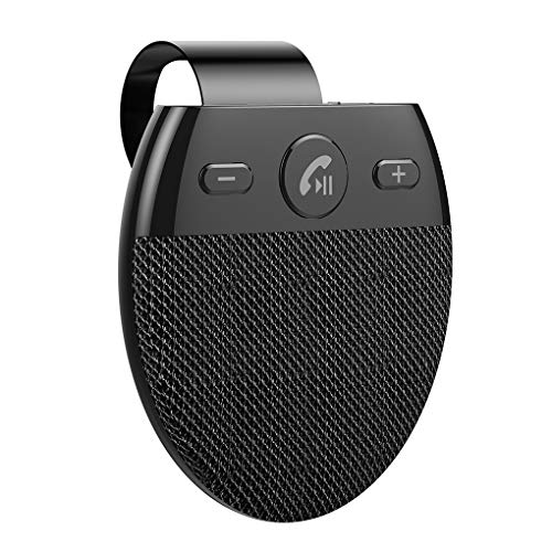 Centitenk Altavoz de Coche Bluetooth V5.0 Manos Libres para Coche Parasol del Coche del teléfono con Altavoz inalámbrico Recargable inalámbrica con Altavoz Music Kit