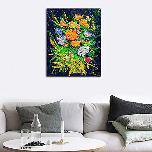 PLjVU Pintura jardín florecientemoderna de la Lona Carteles Impresiones Arte de la Pared-Sin marco40X50CM