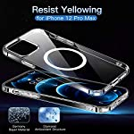 CASEKOO Magnetic Crystal Clear Designed for iPhone 12 Pro Max Case [Yellow Resistant] [Military Grade Drop Protection] Compatible with MagSafe Shockproof Protective Slim Thin Cover 6.7 inch 2020-Clear