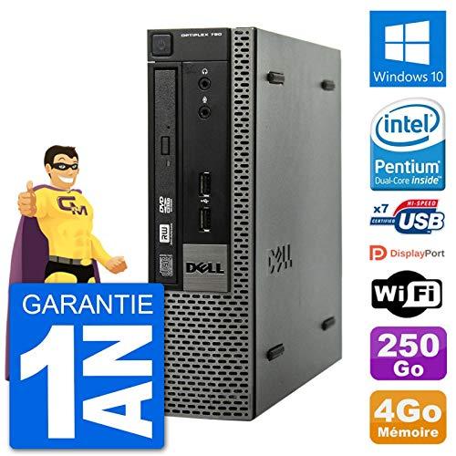 Dell Ultra Mini PC Optiplex 790 USFF G640 RAM 4 GB Festplatte 250 GB Windows 10 WiFi (überholt)