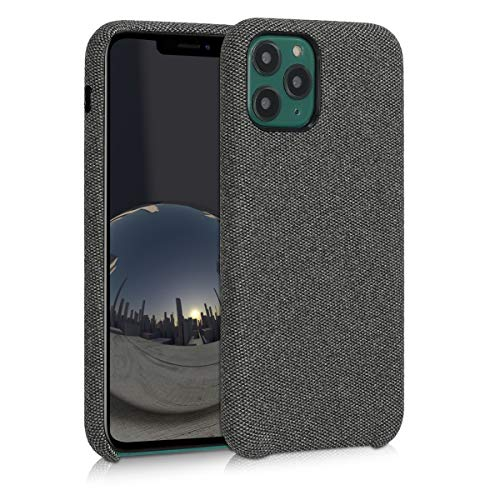 kwmobile Hülle kompatibel mit Apple iPhone 11 Pro - Stoff Hülle Handy Schutzhülle - Backcover Cover Grau