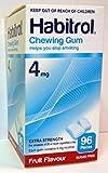 4 boxes Habitrol Nicotine Gum, 4mg FRUIT flavor COATED gum. 384 Pieces