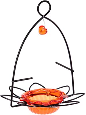 Birds Choice Flower Oriole Bird Feeder Small Orange