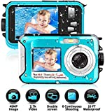 Unterwasserkamera Wasserdichte 2.7K 1080P FHD 48 MP Unterwasser Camcorder Dual Screen Videokamera Digitalkamera Selfie