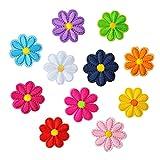 Xinjieda Color de Mezcla aleatoria Rose Bordado Insectos Parches Set de Ropa de Vestir de algodón Floral de Bricolaje, la divisa del Bordado 36pcs