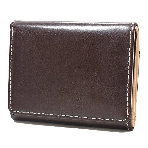 [ブリティッシュグリーン] 三つ折り財布 ブライドルレザー使用 ミニ 財布 メンズ (バーガンディ) セール対象