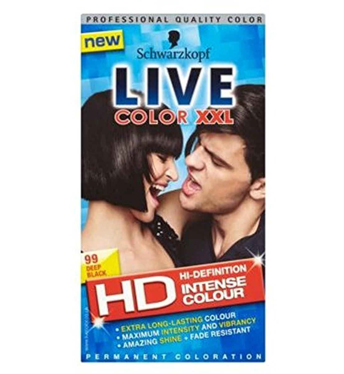 換気相談する後継Schwarzkopf LIVE Color XXL HD 99 Deep Black Permanent Black Hair Dye - シュワルツコフライブカラーXxl Hd 99深い黒のパーマネント黒染毛剤 (Schwarzkopf) [並行輸入品]