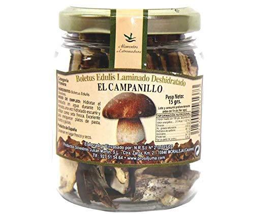 El Campanillo - Boletus deshidratado edulis laminado- Categoria Premium - Ideal para todo tipo de Comidas15 g.