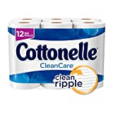 Cottonelle CleanCare Big Roll Toilet Paper (Pack of 12 Rolls), Bath Tissue, Ultra Soft Toilet Paper Rolls with Clean Ripple Texture, Sewer and Septic Safe