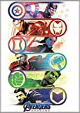 Ata-Boy Marvel Comics Avengers Endgame Heros Logos 2.5' x 3.5' Magnet for Refrigerators and Lockers