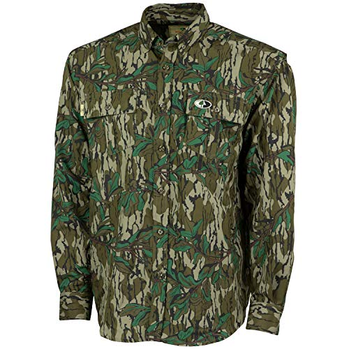 Mossy Oak MO Tibbee Technical Hunt Shirt, Greenleaf, X-Large
