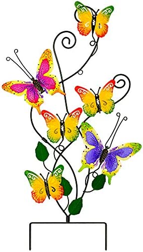 Atenia Metal Wall Art Butterfly Garden Stake Decor Outdoor Butterfly Yard Whimsical Ornaments product image