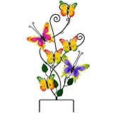 Atenia Metal Wall Art Butterfly Garden Stake Decor, 28 Inch Outdoor Butterfly Yard Whimsical Ornaments Decorations for Garden and Cemetery