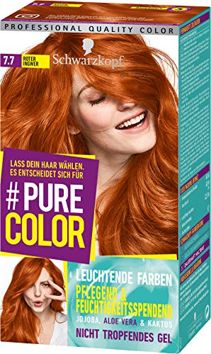Schwarzkopf #Pure Color Coloration, Haarfarbe 7.7 Roter Ingwer Stufe 3, 1er Pack (1 x 143 ml)