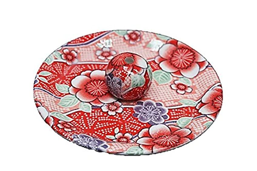 リフレッシュ理容師専門知識9-15 紅染 9cm香皿 お香立て お香たて 陶器 日本製 製造?直売品