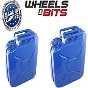 Wheels N Bits NEW 20 LITRE Black JERRY MILITARY CAN FUEL OIL WATER PETROL DIESEL STORAGE TANK