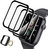 A-VIDET 3 Stück Schutzfolie kompatibel mit Apple Watch Series 6/5/4/SE 44mm Folie, Adsorption Flexible HD Bildschirmschutzfolie Blasenfreie Clear Anti-Scratch Volle Abdeckung(44mm)