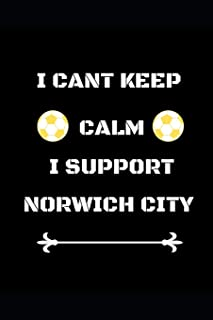 I Cant Keep Calm I Support Norwich City: Funny Soccer Football  Book Men Boys Women Girls Writing 120 pages Notebook Journal -  Small Lined  (6