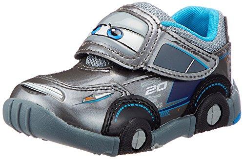 ディズニー カーズ DN C1200 子供靴 スニーカー 男の子 キッズ キャラクター シューズ 靴 【2017年モデル】 (16.0, グレー)