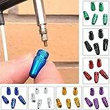 Tragbare Ventilkappen für Fahrrad, MTB Presta-Rad, Felgenvorbau, 5 Stück rot