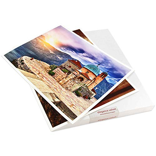 Elegance Velvet 8.5 in x 11 in, 25 Sheets is a Premium Matte 310 gsm, Cold Pressed Bright White Museum Grade Fine Art Inkjet Paper, Compatible with Most Dye-Based and Pigment Printers