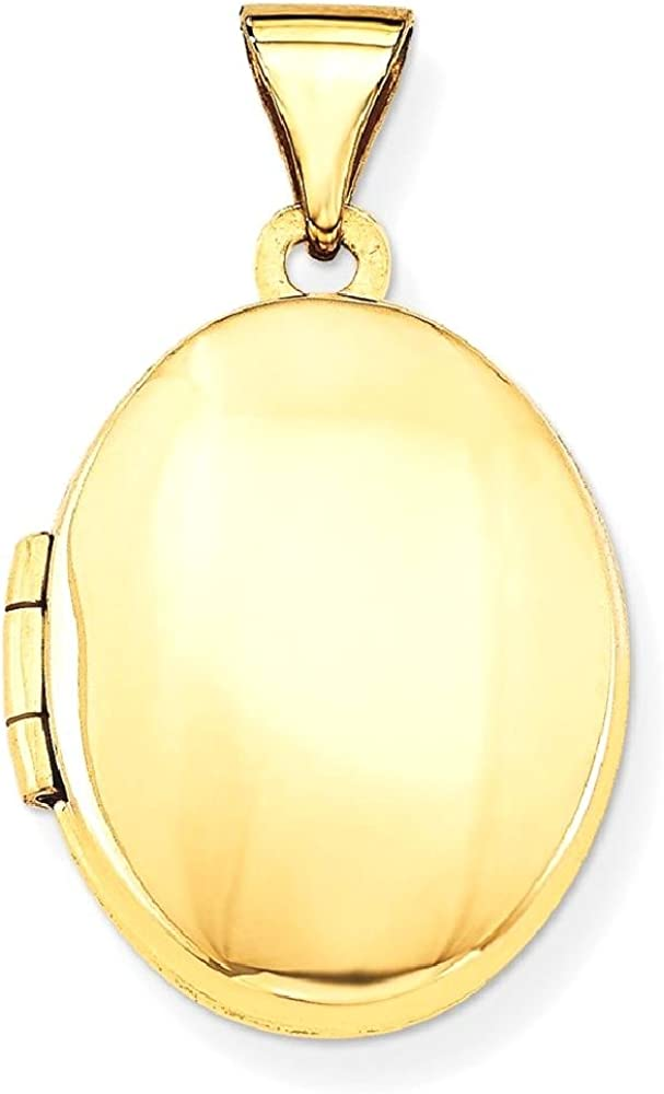 14k Yellow Gold Oval Photo Pendant Charm Locket Chain Necklace That Holds Pictures Fine Jewelry For Women Gifts For Her