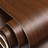 WOODEN FURNITURE SHELF LINER, MULTI-USE: This wood self-adhesive furniture wallpaper is ideal to decorate or renovate old doors, furniture, fridge/refrigerator, kitchen cabinets, drawers, bed, shelf-liner, office table, wardrobe, desk, door, laminate...