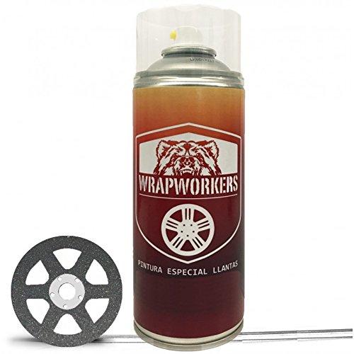 WrapWorkers Spray Pintura Coche Antracita Metalizado