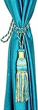 Homefab India Set of 2 Beautiful Aqua Blue Curtain Tie Backs (Tassels) (ACC011)