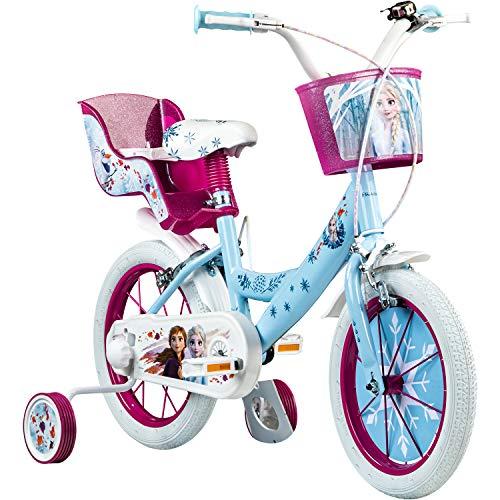 Disney Frozen - Bicicleta Infantil de 14 Pulgadas (a Partir de 3,5 años)