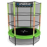 Kinetic Sports Trampolin Kinder Indoortrampolin Jumper 140 cm Randabdeckung Stangen gepolstert,...