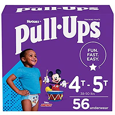 Pull-Ups Boys' Potty Training Pants Training Underwear Size 6, 4T-5T, 56 Ct by Kimberly-Clark Corp.