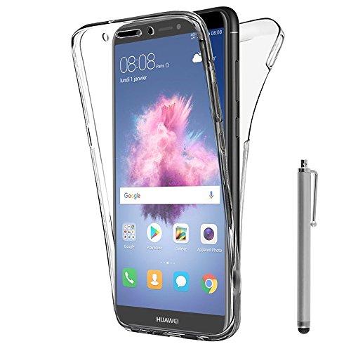ShopInSmart® 360° Ultra dünne Silikon Handy Schutzhülle VORNE + HINTEN RUNDUM Schutz für Huawei P smart 5.65