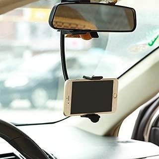 Premium Rear View Mirror Car Mount Holder Cradle Dock for Net10, Straight Talk, Tracfone ZTE Majesty, Solar, Nubia Mini, Avail 2, ZTE Prelude, Zephyr, Z998, Quartz, Paragon, Lever