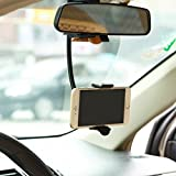 Premium Rear View Mirror Car Mount Holder Cradle Dock for Samsung Galaxy J1 J3 J5 J7, Grand Prime - LG Volt 2, Tribute 2, Escape 2 - ZTE Overture 2, ZMAX, ZMAX+, Nubia Z9 - ASUS Zenfone, 2