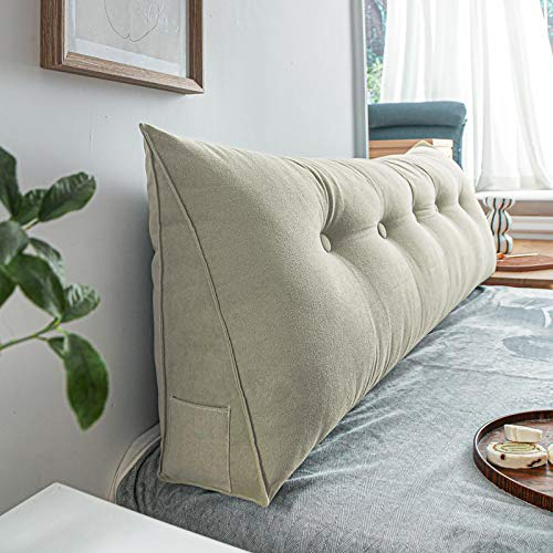 ZXD Headboard Backrest Pillows, Long Pillow Reading Backrest Bolster, Wedge Sofa Bed Pillow Cushion, Trendy Room Design, Removable Washable,4,180cm