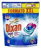 Dixan Total 3+1 Detergente en Cápsulas para Lavadora, para Ropa Blanca y Ropa de Color - 60 Lavados