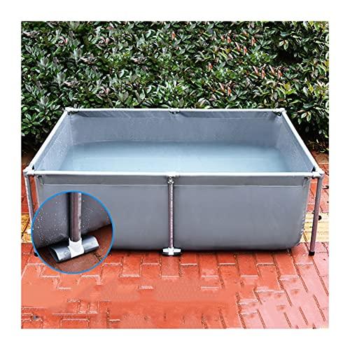 XYUfly20 Faltbarer Fischteich Mit Stehender Leinwand Wasserdicht, rutschfest, Schimmel-, Kälte- Und Alterungsbeständig Wasserdichter Hochleistungs-PVC-Vorratsbehälter,...
