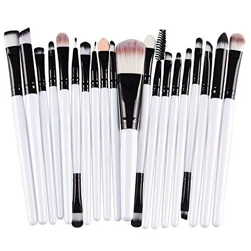20 Pinceaux De Maquillage Professionnels jkhhi, Pinceaux Pour Les Yeux,Pinceaux Pour Les LèVres,Brosse à Sourcils,Qualité SupéRieure Fibres SynthéTiques