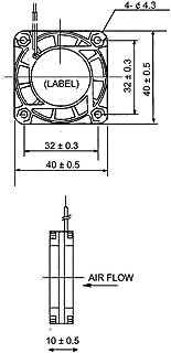 Sunon - Cy410 Ventilador Pc 40Mm 6000Rpm