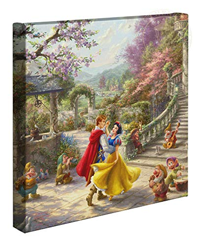 Thomas Kinkade Studios Disney Snow White Dancing in The Sunlight 14 x 14 Gallery Wrapped Canvas